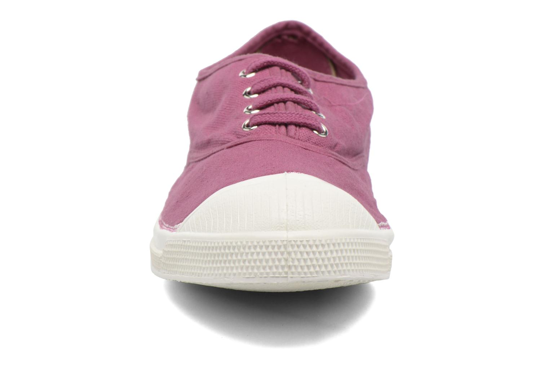 Sneakers Bensimon Tennis Lacets Viola modello indossato