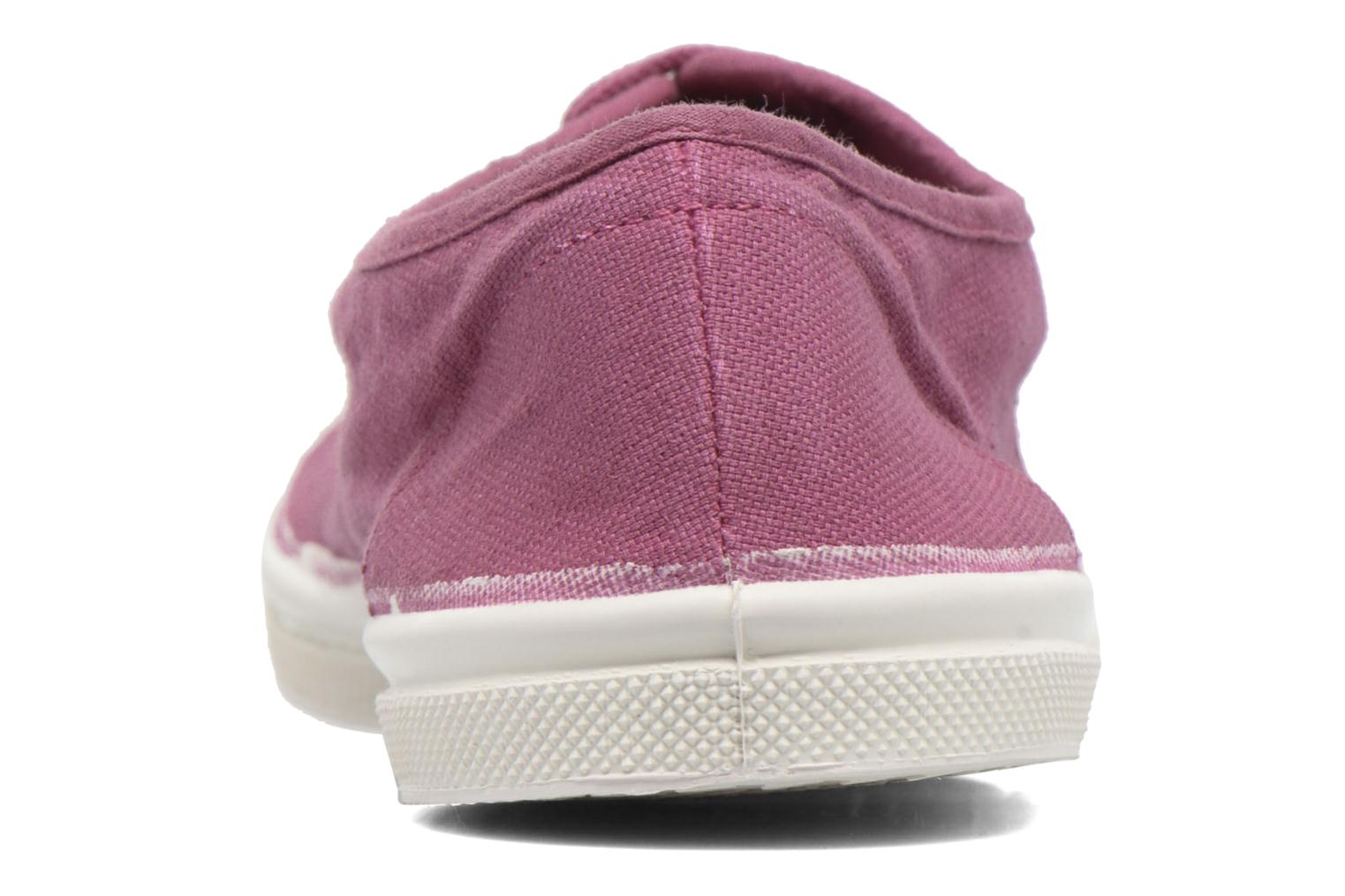 Trainers Bensimon Tennis Lacets Purple view from the right