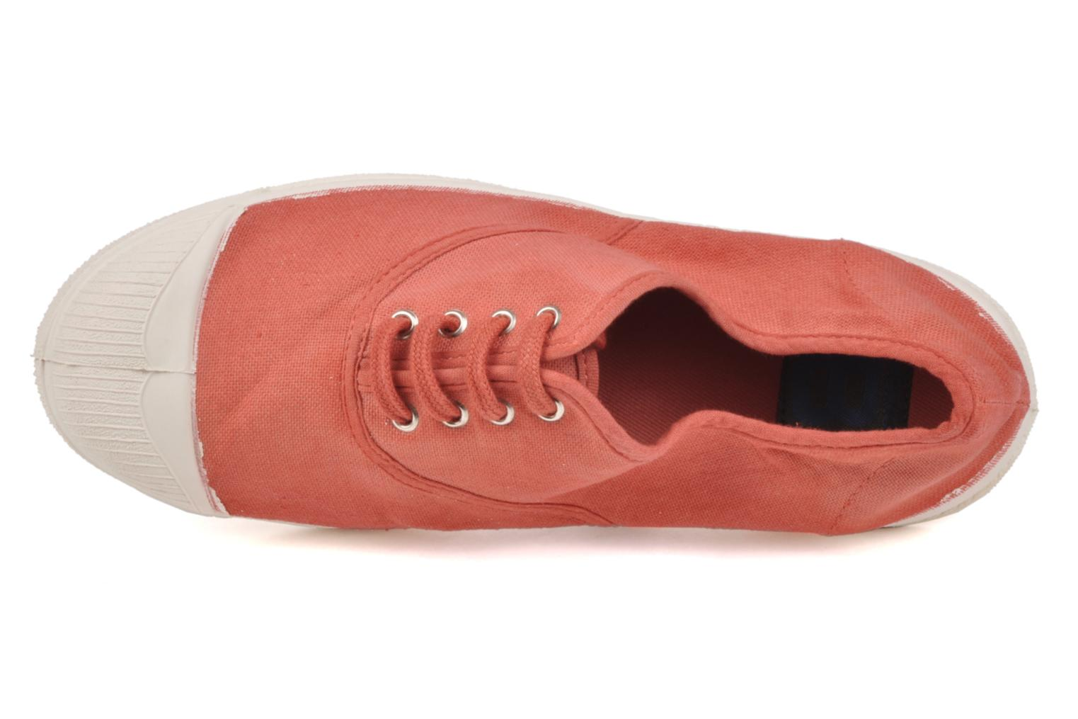 Sneaker Bensimon Tennis Lacets orange ansicht von links