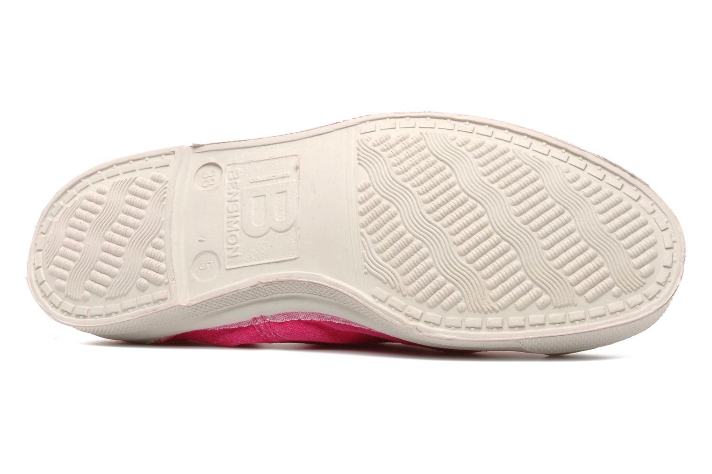 Sneaker Bensimon Tennis Lacets rosa ansicht von oben