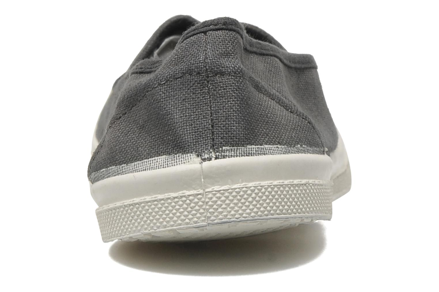 Ballet pumps Bensimon Tennis Elastique Grey view from the right