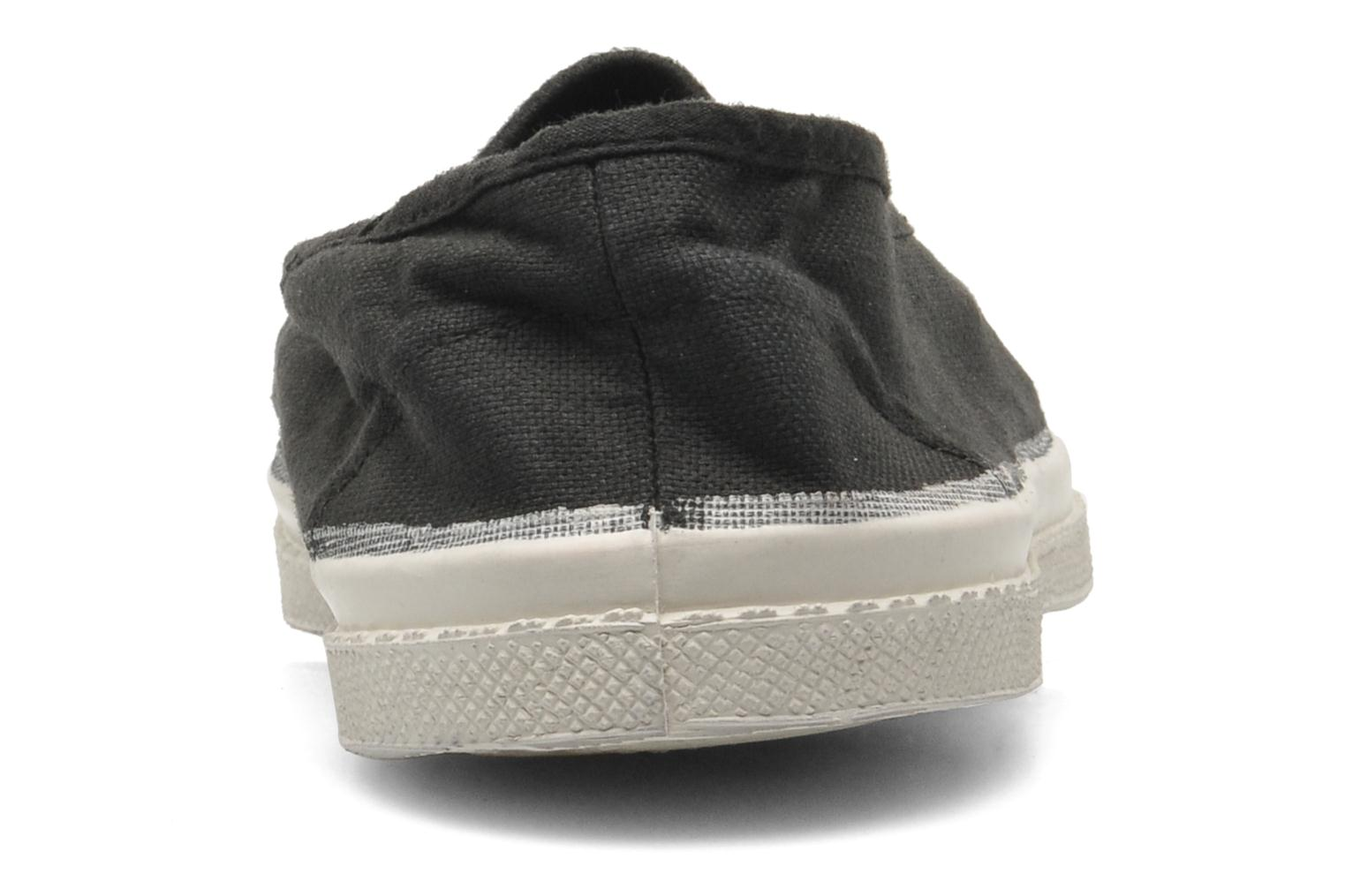 Ballet pumps Bensimon Tennis Elastique Black view from the right