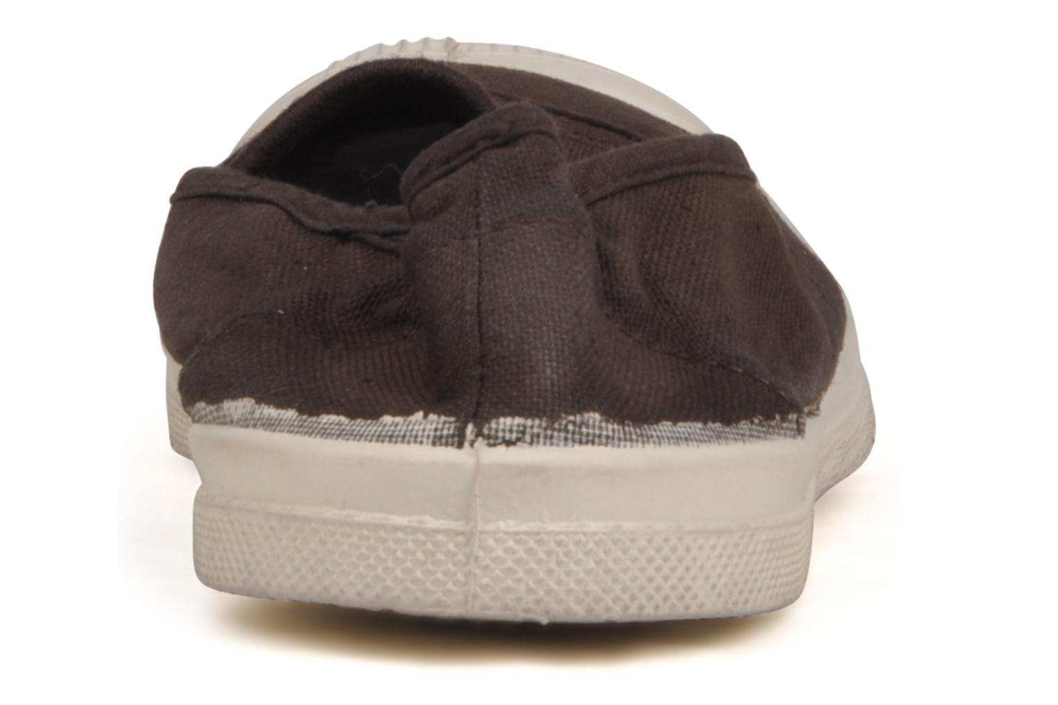 Ballet pumps Bensimon Tennis Elastique Brown view from the right