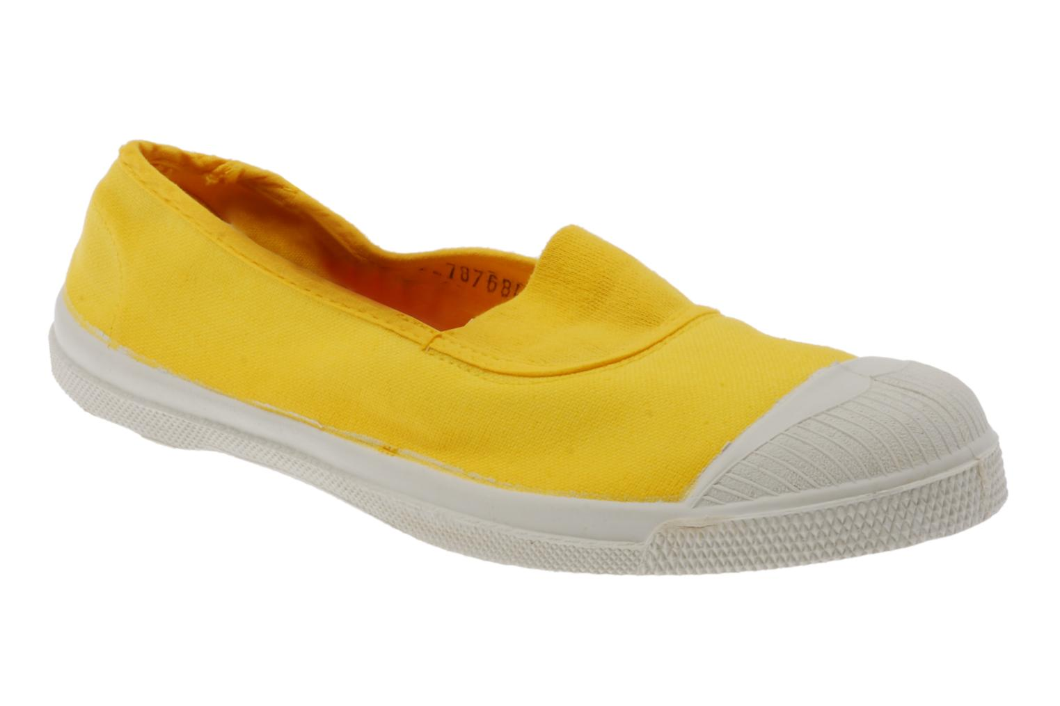 Ballet pumps Bensimon Tennis Elastique Yellow detailed view/ Pair view