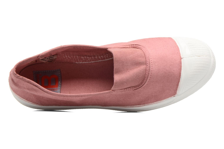 Ballerinas Bensimon Tennis Elastique rosa ansicht von links