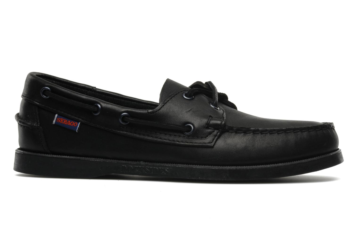 Docksides M Black leather