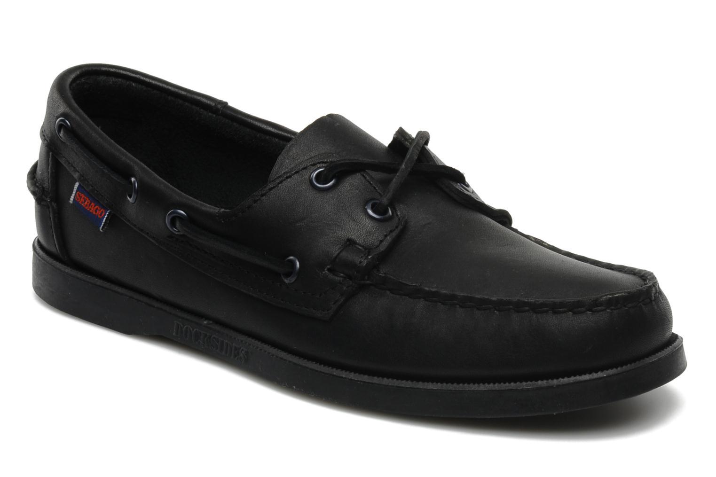 Chaussures à lacets Sebago Docksides M Noir vue détail/paire