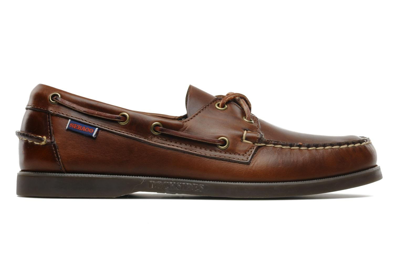 Lace-up shoes Sebago Docksides M Brown back view