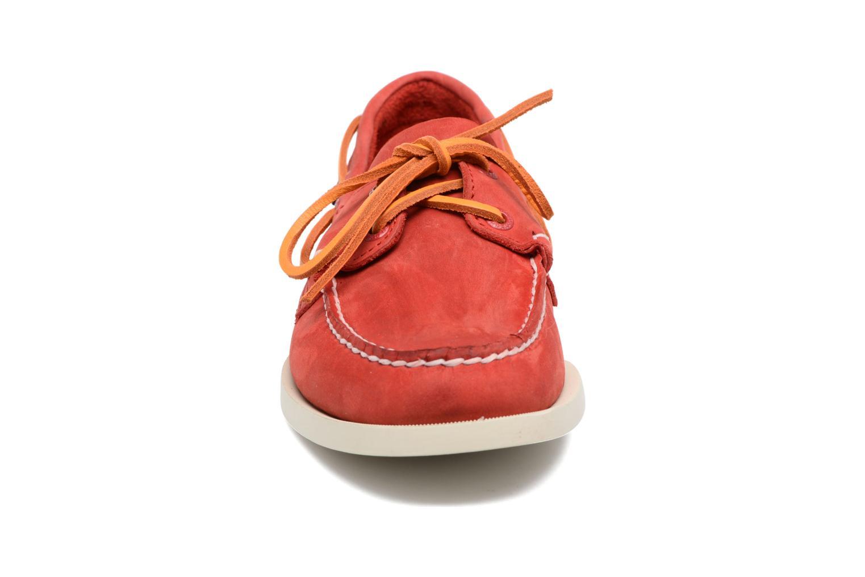 Chaussures à lacets Sebago Docksides M Rouge vue portées chaussures