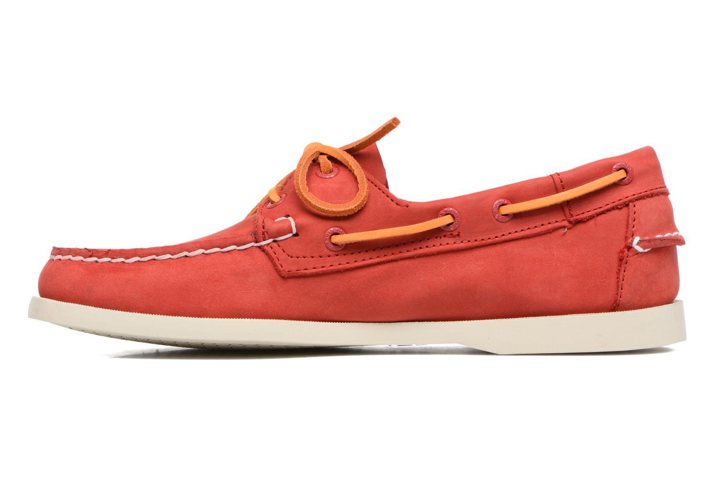 Chaussures à lacets Sebago Docksides M Rouge vue face
