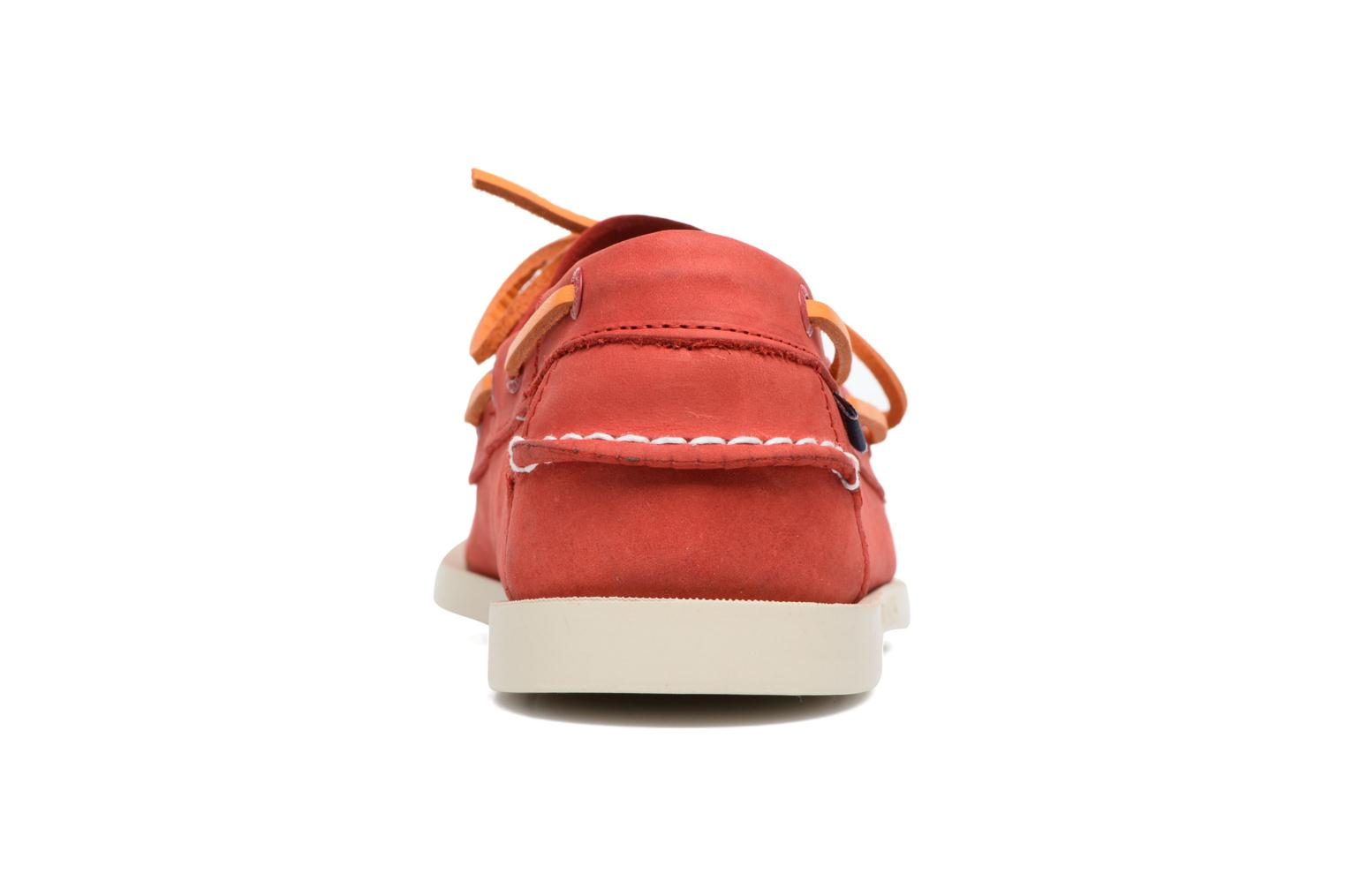 Lace-up shoes Sebago Docksides M Red view from the right