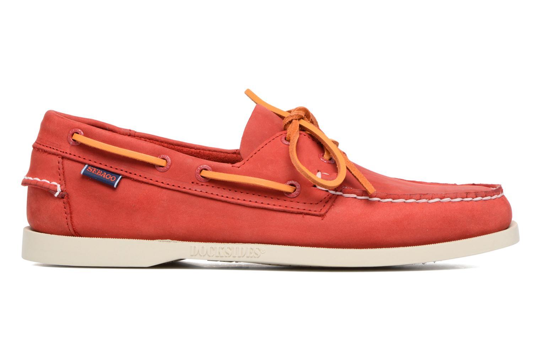 Chaussures à lacets Sebago Docksides M Rouge vue derrière