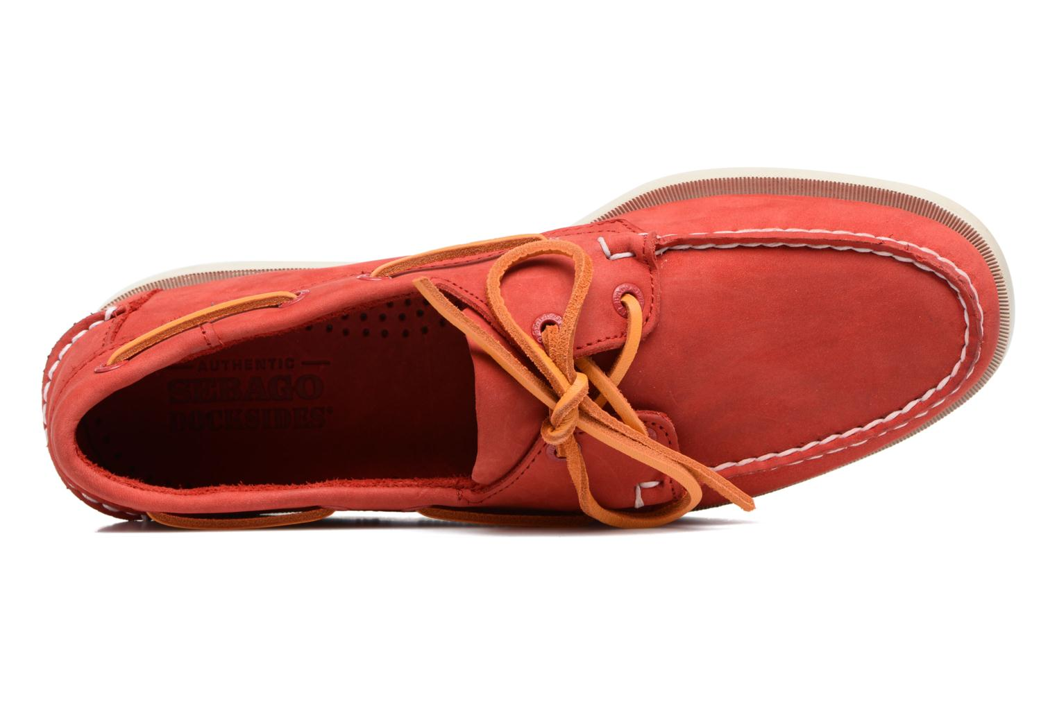 Lace-up shoes Sebago Docksides M Red view from the left