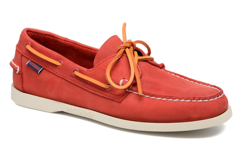 Snøresko Sebago Docksides M Rød detaljeret billede af skoene