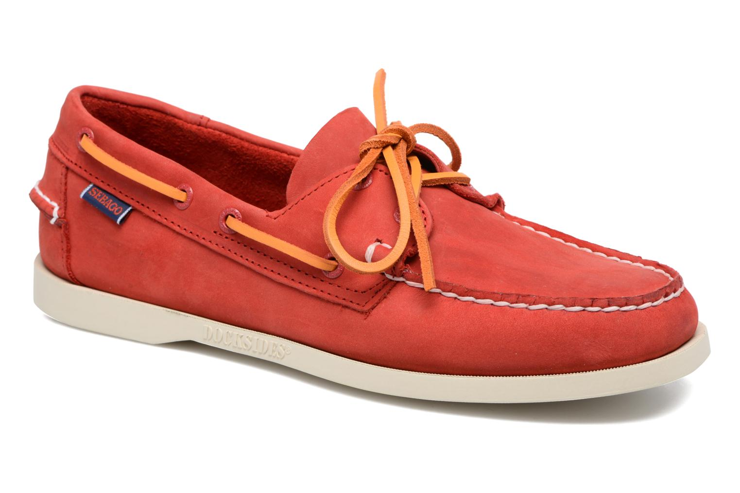 Lace-up shoes Sebago Docksides M Red detailed view/ Pair view