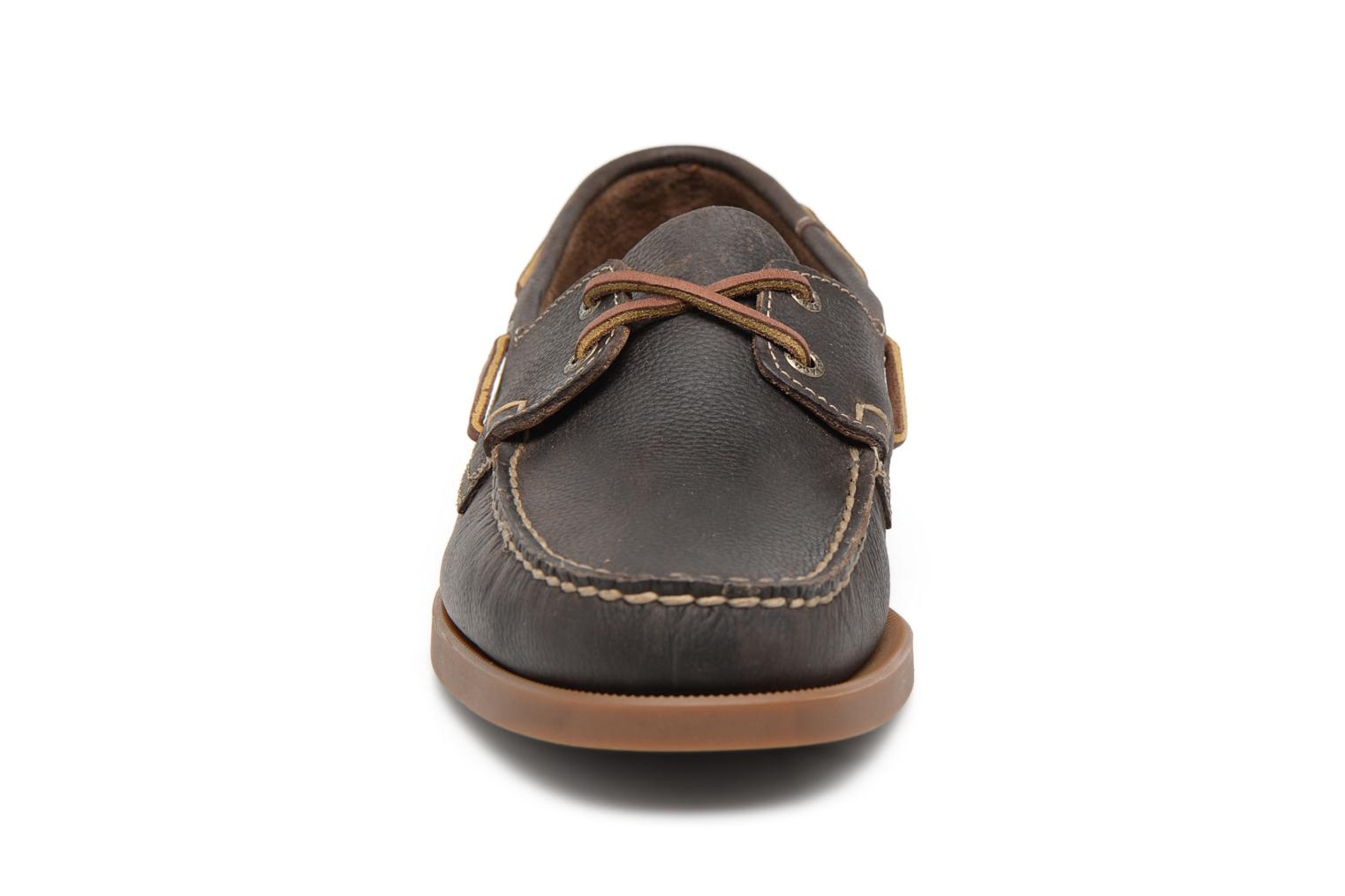 Docksides M Dark olive leather