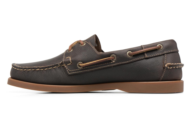 Docksides M Dark olive leather