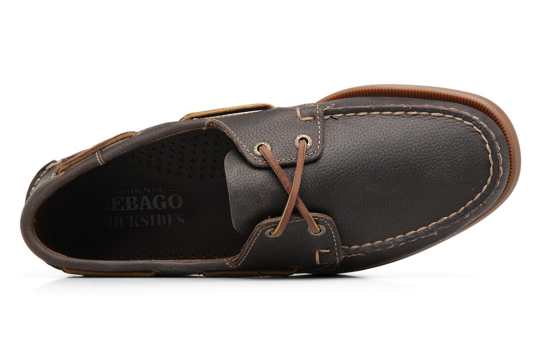 Scarpe con lacci Sebago Docksides M Verde immagine sinistra
