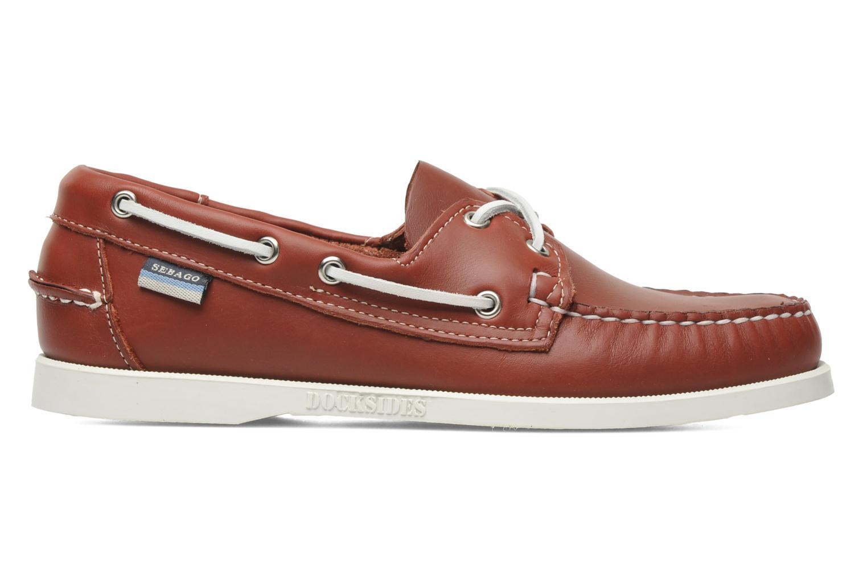 Snörade skor Sebago Docksides M Röd bild från framsidan