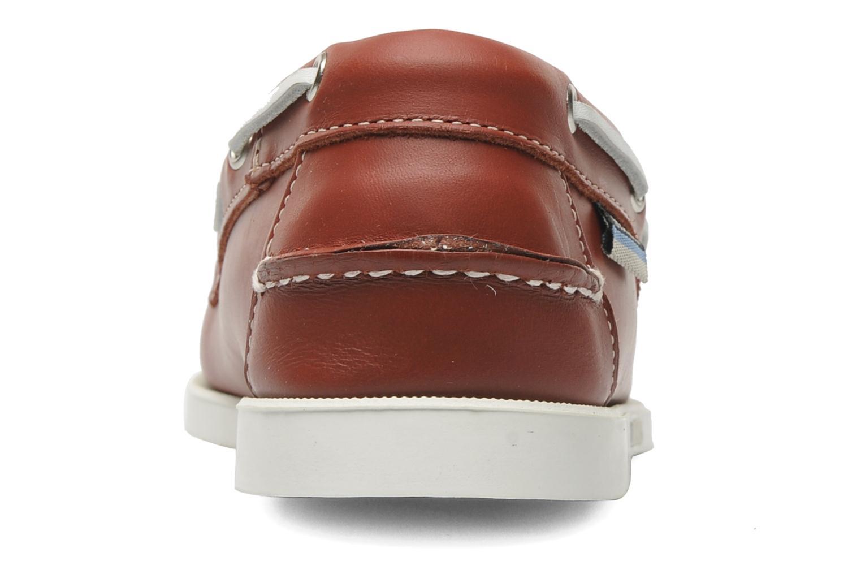 Zapatos con cordones Sebago Docksides M Rojo vista lateral derecha