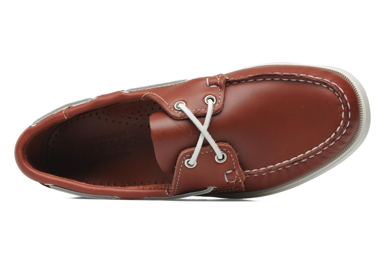 Zapatos con cordones Sebago Docksides M Rojo vista lateral izquierda