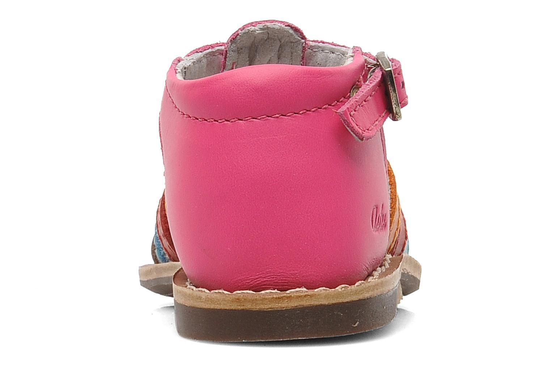 Sandalen Aster Vision rosa ansicht von rechts