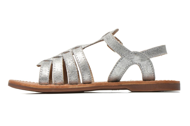 Sandales et nu-pieds Aster Vibride Argent vue face