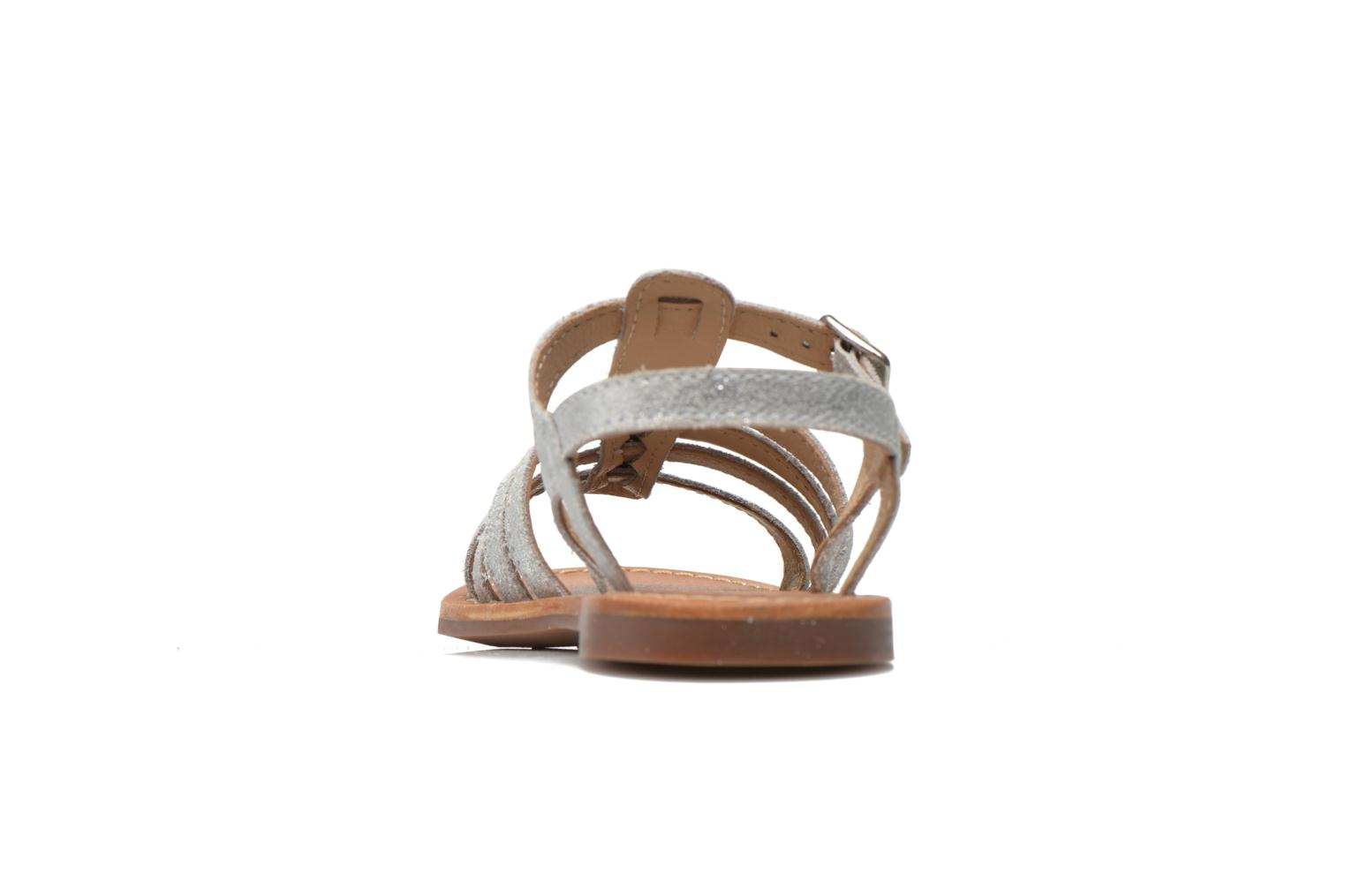 Sandals Aster Vibride Silver view from the right