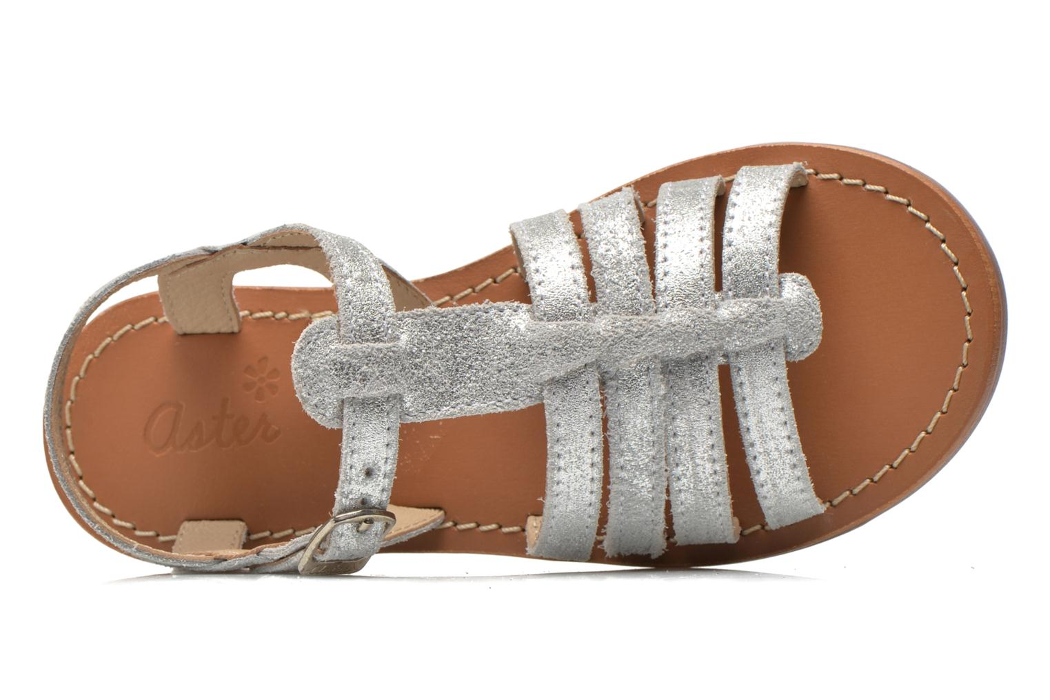 Sandals Aster Vibride Silver view from the left