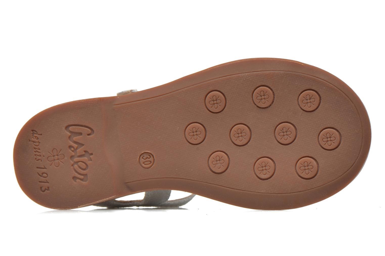 Sandales et nu-pieds Aster Vibride Argent vue haut