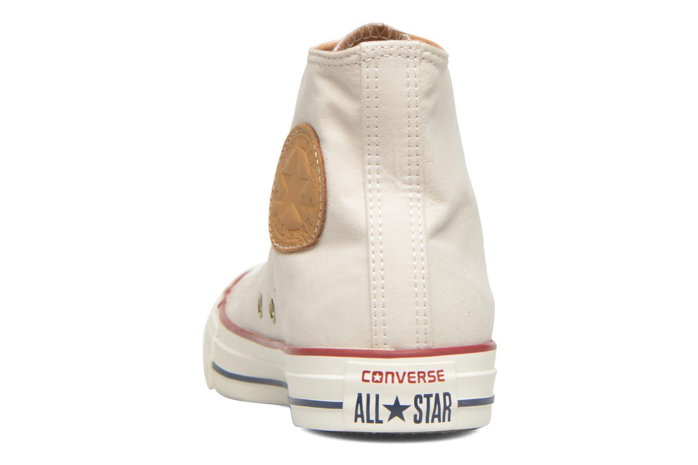 Sneaker Converse Chuck Taylor All Star Hi W beige ansicht von rechts
