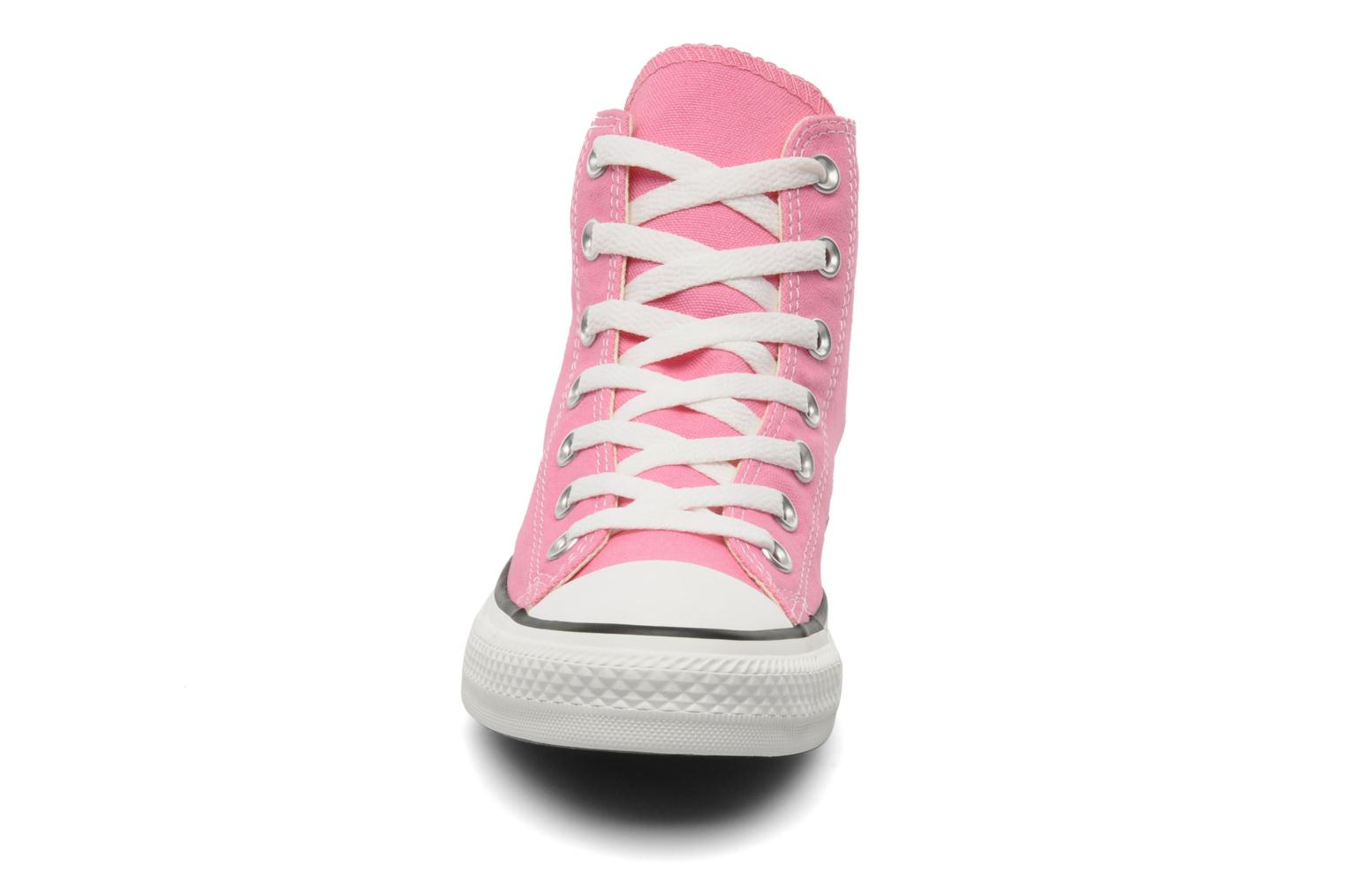 Baskets Converse Chuck Taylor All Star Hi W Rose vue portées chaussures