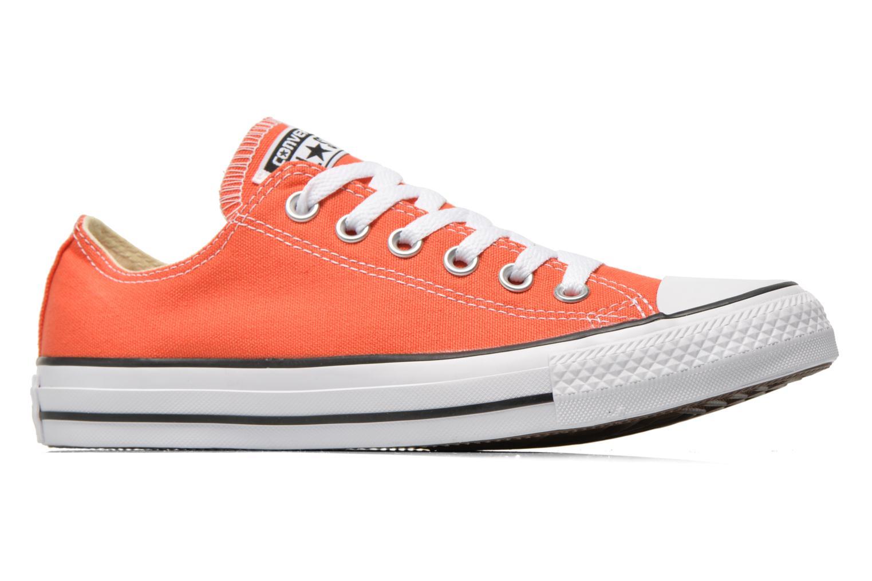 Sneaker Converse Chuck Taylor All Star Ox W orange ansicht von hinten