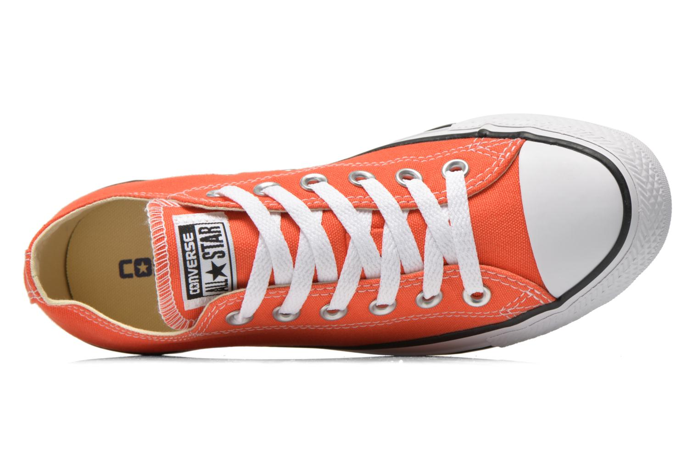 Baskets Converse Chuck Taylor All Star Ox W Orange vue gauche
