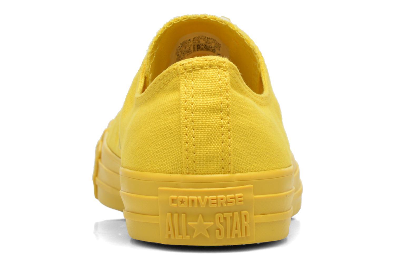 Sneaker Converse Chuck Taylor All Star Ox W gelb ansicht von rechts