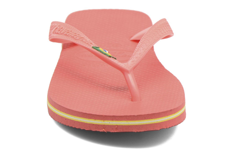 Tongs Havaianas Brazil Femme Orange vue portées chaussures