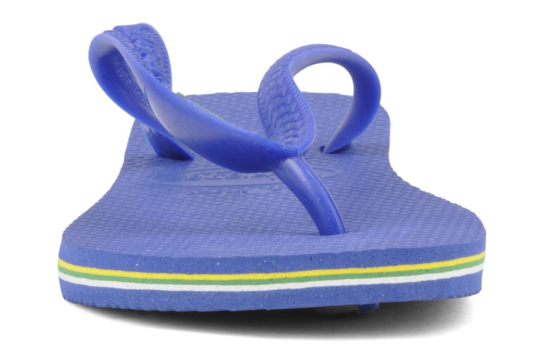 Tongs Havaianas Brazil Femme Bleu vue portées chaussures