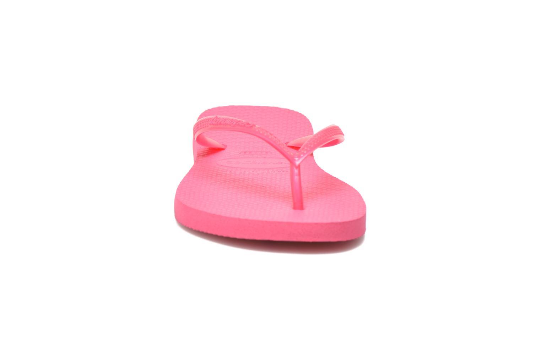 Zehensandalen Havaianas Slim Métallic Femme rosa schuhe getragen