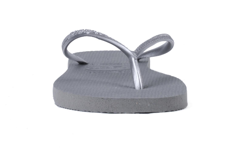 Slim Métallic Femme Grey Silver