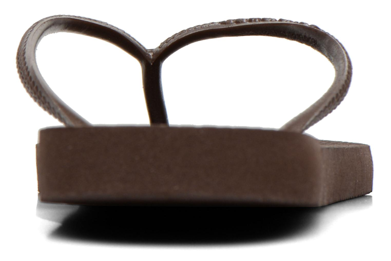 Tongs Havaianas Slim Metallic F Marron vue derrière