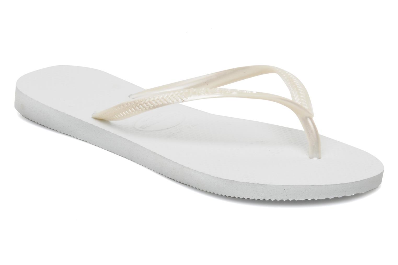 Slim Métallic Femme White