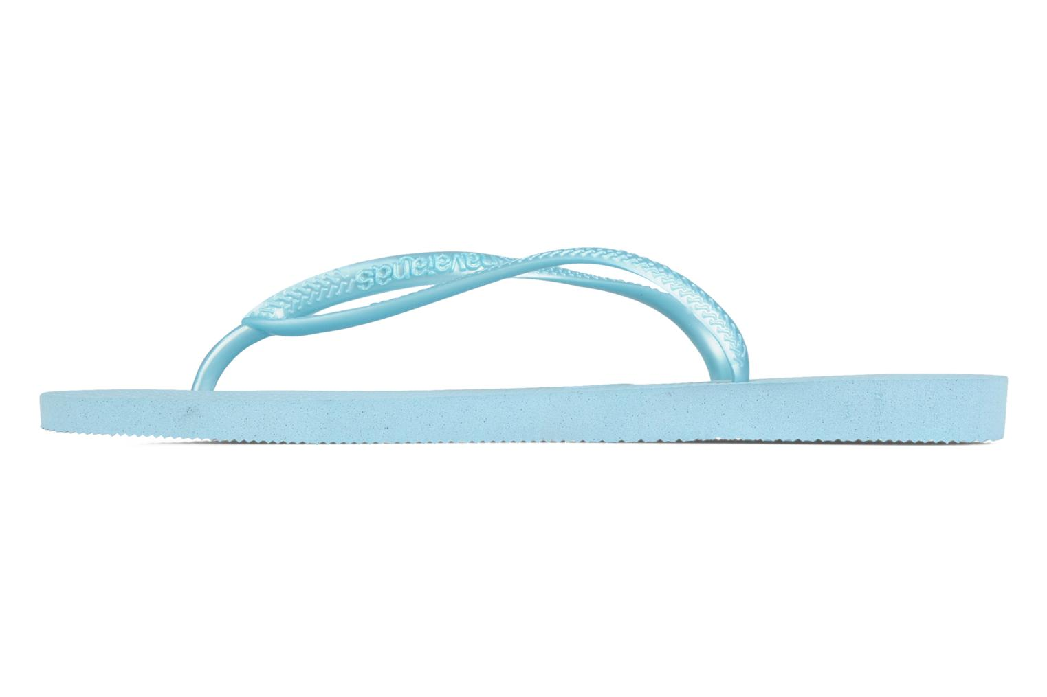Tongs Havaianas Slim Metallic F Bleu vue face