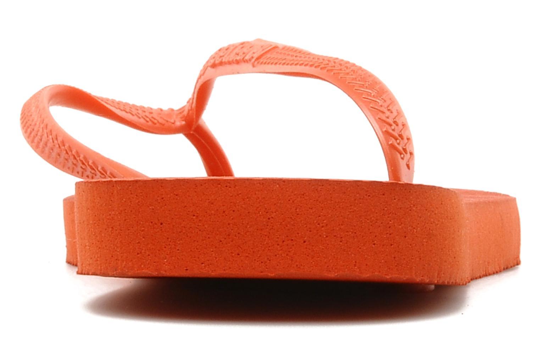 Flip flops Havaianas Slim Métallic Femme Orange view from the right