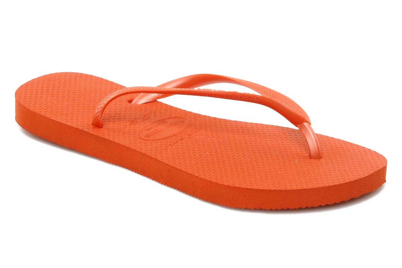 Flip flops Havaianas Slim Métallic Femme Orange detailed view/ Pair view