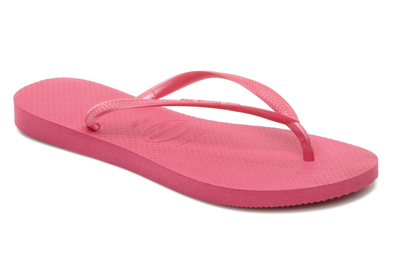 Flip flops Havaianas Slim Métallic Femme Pink detailed view/ Pair view