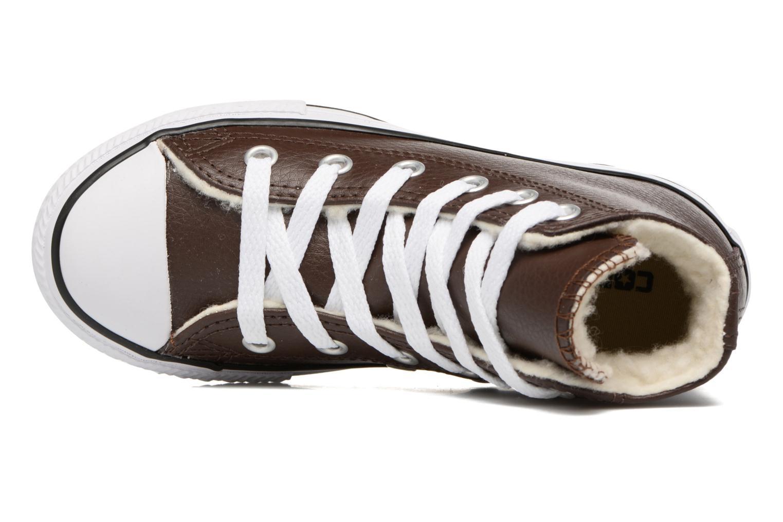 Sneaker Converse Chuck Taylor All Star Hi K braun ansicht von links
