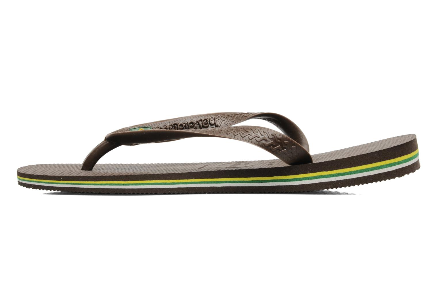 Tongs Havaianas Brazil H Marron vue face