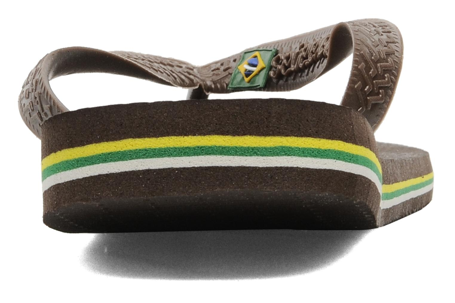 Flip flops Havaianas Brazil H Brown view from the right