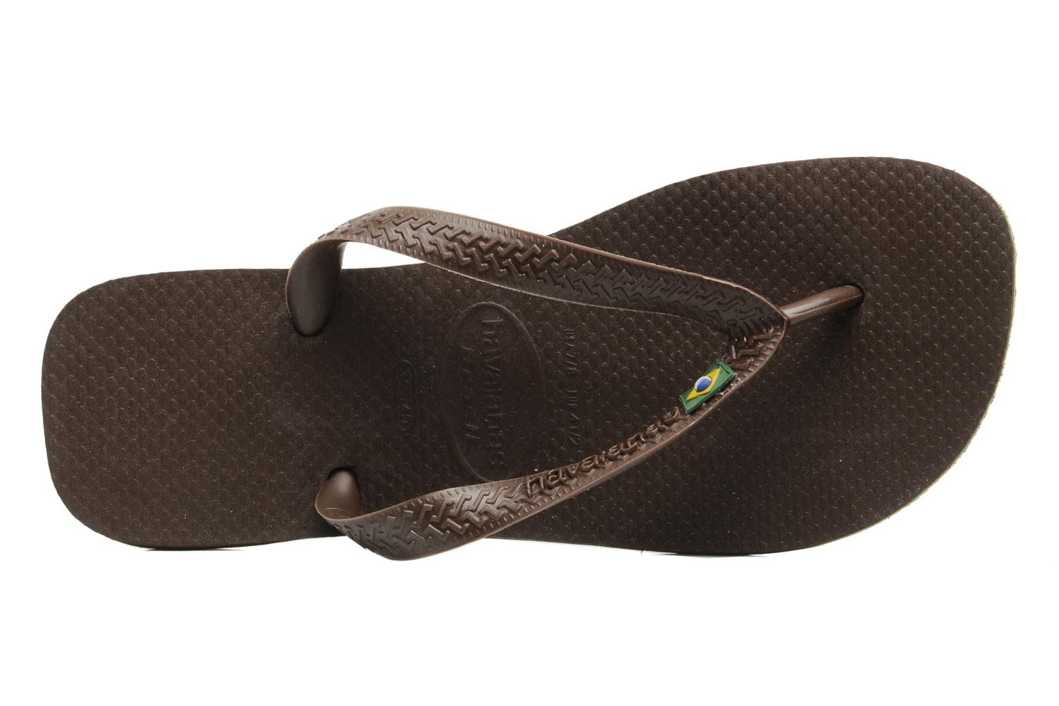 Flip flops Havaianas Brazil H Brown view from the left