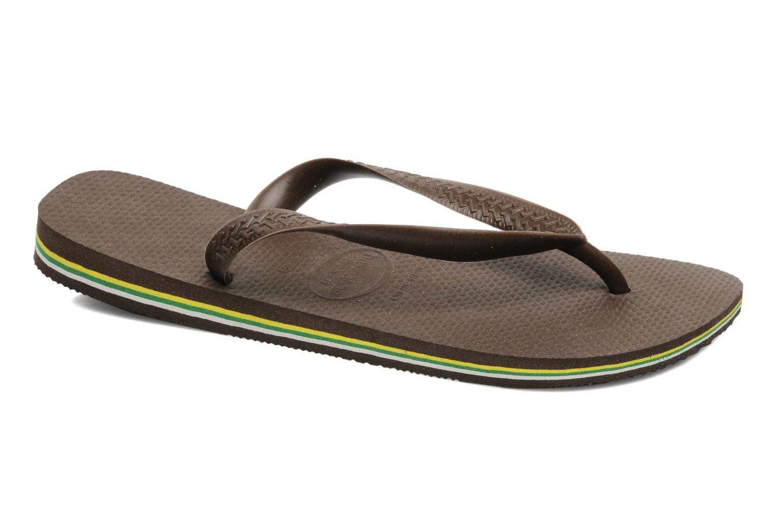 Tongs Havaianas Brazil H Marron vue détail/paire